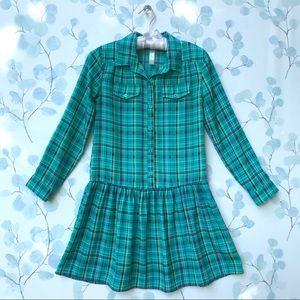 Cherokee Green Plaid Dress